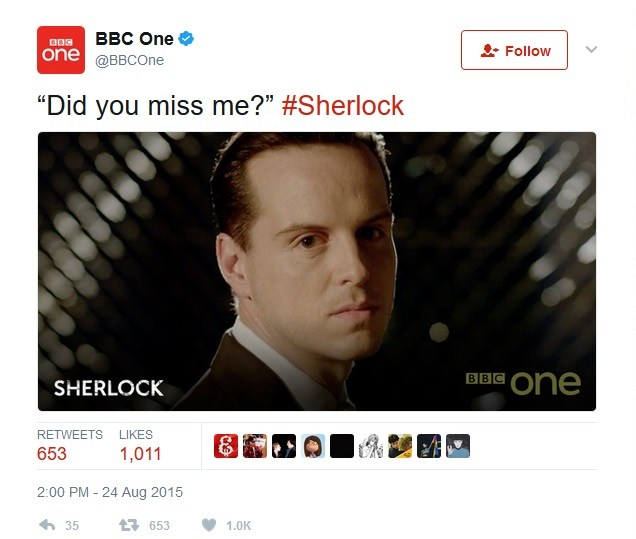 Sherlock Miss me