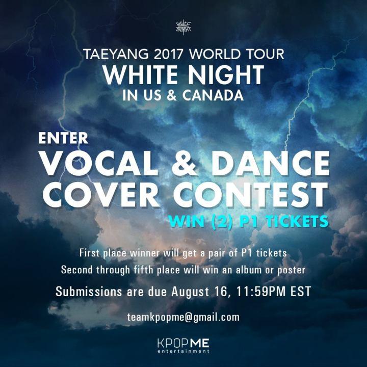 Taeyang World Tour contest